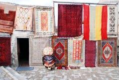 sklepu dywanowy widok Zdjęcie Stock