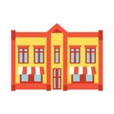 Sklepu frontowego okno budynku koloru sklepowa ikona Obraz Royalty Free