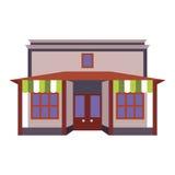 Sklepu frontowego okno budynku koloru sklepowa ikona Zdjęcia Stock