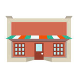 Sklepu frontowego okno budynku koloru sklepowa ikona Obrazy Stock