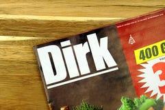 Sklepu spożywczego sklepu sprzedaży ulotka Holenderski supermarket Dirk zdjęcie royalty free