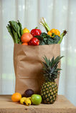 Sklepu spożywczego Brown torba Z owoc i Vegetbales Zdjęcia Royalty Free