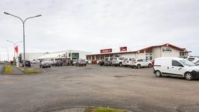 Sklepy i wełny fabryka w Vik wiosce w Iceland Zdjęcie Royalty Free