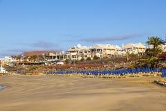 Sklepy, plaża i restauracje, dalej Obrazy Stock