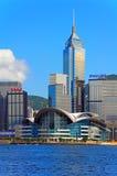 Sklines dei punti di riferimento di Hong Kong immagini stock libere da diritti