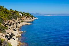 Skliri plaża w Agistri, Grecja Obrazy Royalty Free