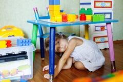 skämtsamt barn Fotografering för Bildbyråer