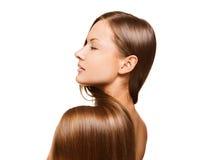 Skönhetkvinna. långt hår Arkivfoto