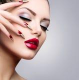 Skönhetmodell Girl Fotografering för Bildbyråer