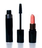 Skönhetsmedel och makeupuppsättning Arkivfoto