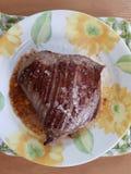 Skończony wołowina stek obrazy royalty free