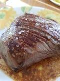 Skończony wołowina stek obrazy stock