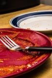 Skończony spaghetti Plate_2 obrazy royalty free