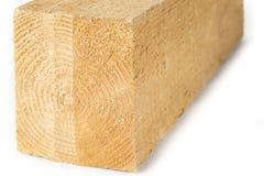 Skończony szalunku drewno na białym tle obraz stock