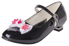 sko barns skor på en bakgrund Arkivfoto