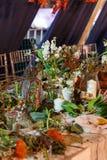 Skończona kwiaciarni klasa przy festiwalem Fotografia Royalty Free