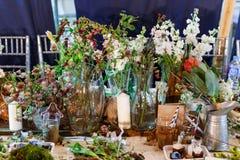 Skończona kwiaciarni klasa przy festiwalem Zdjęcie Stock