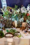 Skończona kwiaciarni klasa przy festiwalem Fotografia Stock