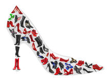 Sko som göras av kvinnaskodon Royaltyfria Bilder