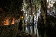 Skocjan grottor, naturarvplats i Slovenien Arkivbild