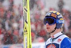 skoczek na nartach obraz royalty free