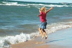 skoczki surfować dziewczyny Obraz Royalty Free