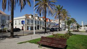 Skoczne ulicy grodzki Vila Real Santo Antonio Portugalia zbiory wideo