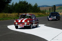 Skoda 1000 MB - 1968 and Tatra 87 1940 Stock Images