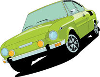 Skoda 110 r. Cupe created in Adobe Illustrator Royalty Free Stock Images