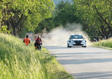 Skoda car driving on a rally Stock Image