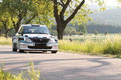 Skoda car driving on a rally Royalty Free Stock Image