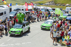 Skoda Caravan in Alps - Tour de France 2015 Royalty Free Stock Image