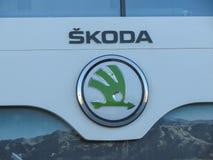 Skoda cars logo in Brno Royalty Free Stock Image