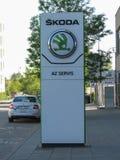 Skoda cars logo in Brno Stock Photos