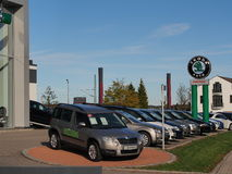 Skoda dealership Stock Photos