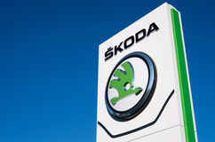Skoda dealership sign Royalty Free Stock Photography