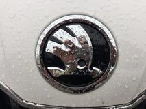 Skoda emblem royaltyfri fotografi