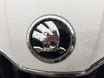 Skoda emblem fotografering för bildbyråer