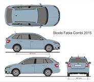 Skoda Fabia Combi 2015 Стоковые Фотографии RF