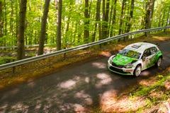 Skoda Fabia R5 on Miskolc Rally Hungary. 2016 Herczig Norbert Bacigal Igor Stock Photography