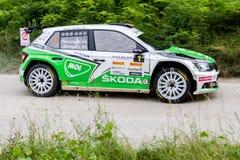 Skoda Fabia R5 on Miskolc Rally Hungary. 2016 Herczig Norbert Bacigal Igor Stock Photos