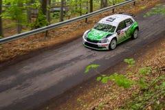 Skoda Fabia R5 on Miskolc Rally Hungary. 2016 Herczig Norbert Bacigal Igor Stock Images