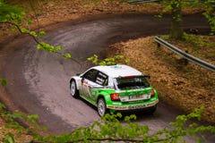 Skoda Fabia R5 on Miskolc Rally Hungary. 2016 Herczig Norbert Bacigal Igor Stock Image
