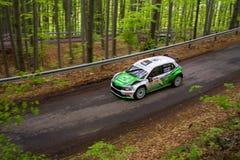 Skoda Fabia R5 on Miskolc Rally Hungary. 2016 Herczig Norbert Bacigal Igor Stock Photo