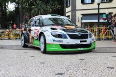 Skoda Fabia Rally bil Royaltyfri Foto