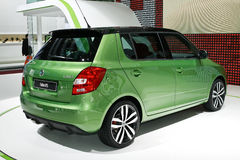 Skoda Fabia RS. At the Moscow International Automobile Salon (MIAS-2010) August 25 - September 5 Royalty Free Stock Photo