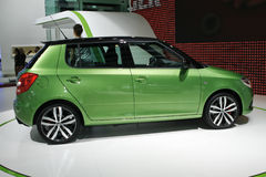 Skoda Fabia RS side view. Skoda Fabia RS at the Moscow International Automobile Salon (MIAS-2010) August 25 - September 5 Royalty Free Stock Image