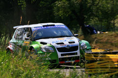 Skoda Fabia S2000. Škoda Fabia S2000 Rally IRC Barum Rally 2009 Royalty Free Stock Photo