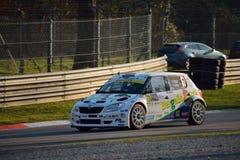 Skoda Fabia samlar bilen på Monza Royaltyfri Foto