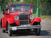 SKODA-, historisches Rennen und Sport Motor- HRADEC KRALOVE- TSCHECHE republik lizenzfreie stockbilder